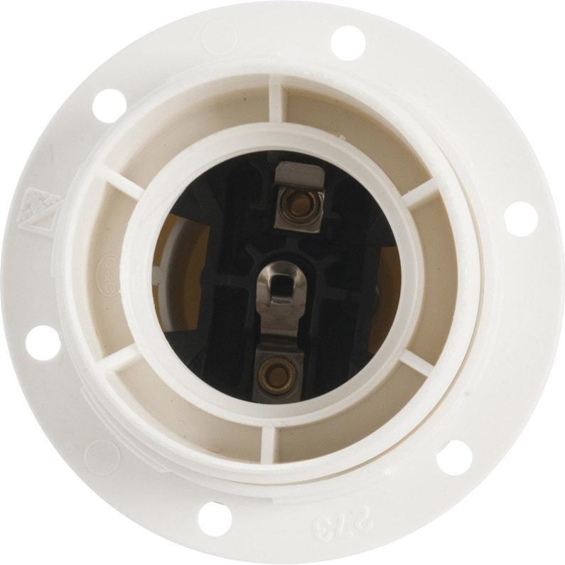 Douille électrique à Vis E27 Polyester Blanc