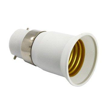 Adaptateur de douille à vis abs, blanc