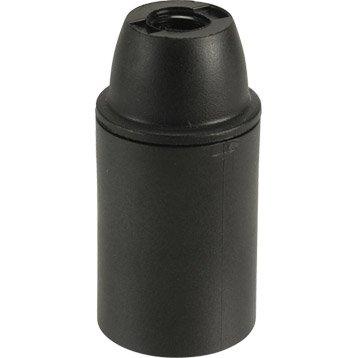 Douille électrique à vis E14 abs, noir