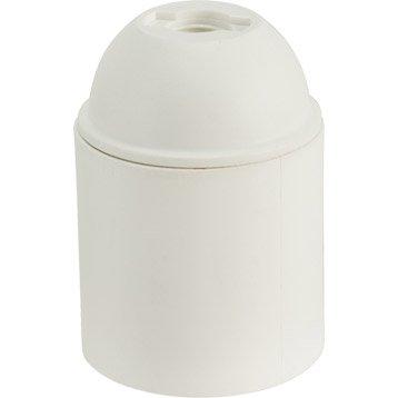 Douille électrique à vis E27 abs, blanc