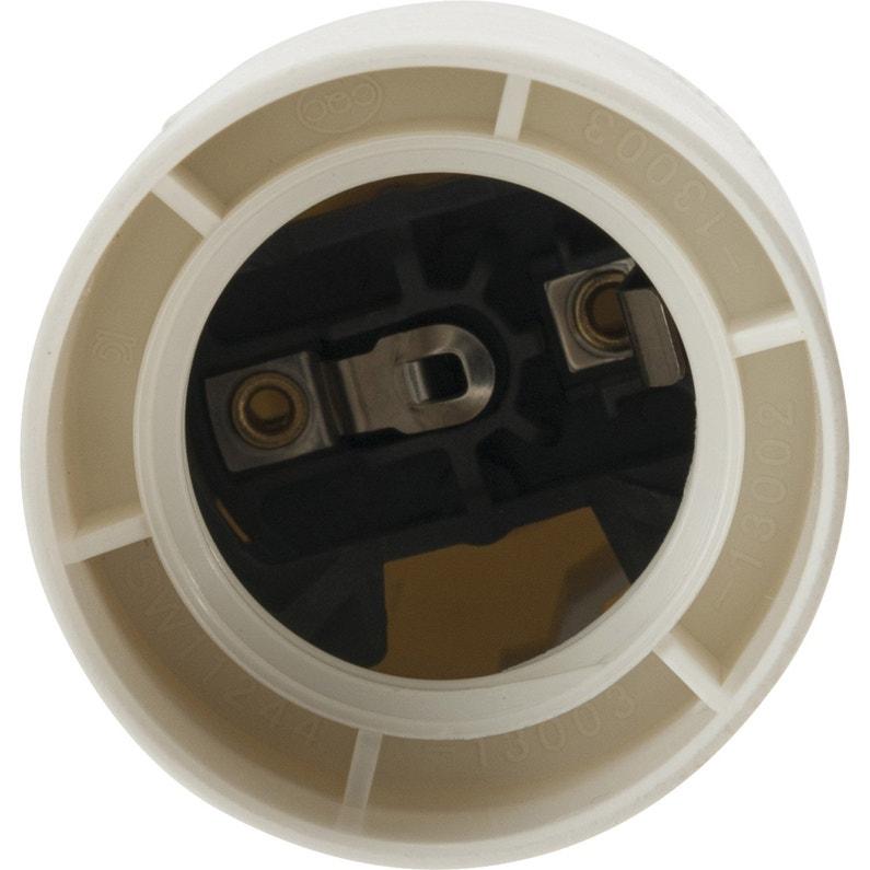Douille électrique E27 à Vis Thermoplastique Blanc