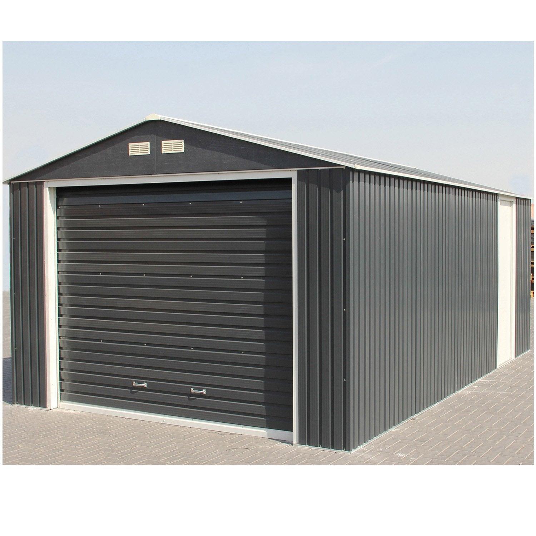 abri de jardin duramax porte sectionnelle, 22 m² ep.0.33 mm | leroy
