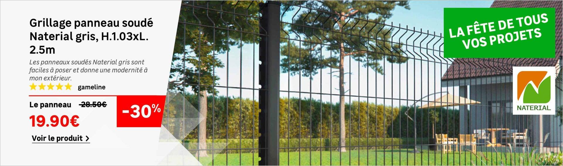 Grillage, canisse, panneau, clôture, brise vue  Leroy Merlin