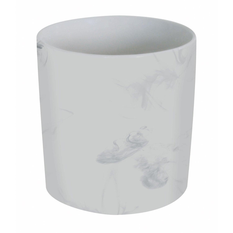 Pot range-couverts céramique blanc
