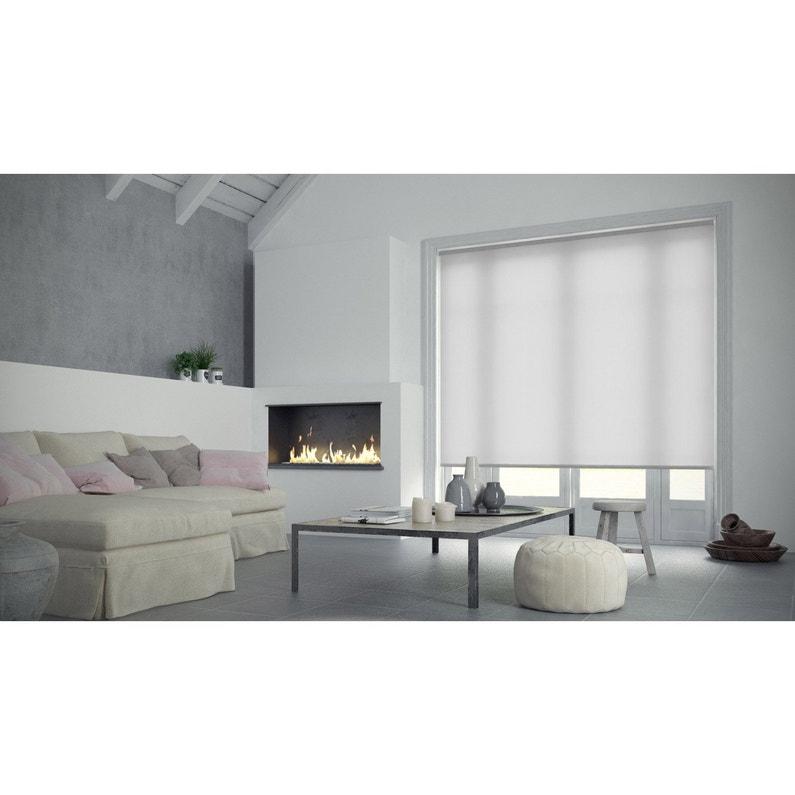 Store Enrouleur Tamisant Inspire Blanc Blanc N0 60x90 Cm