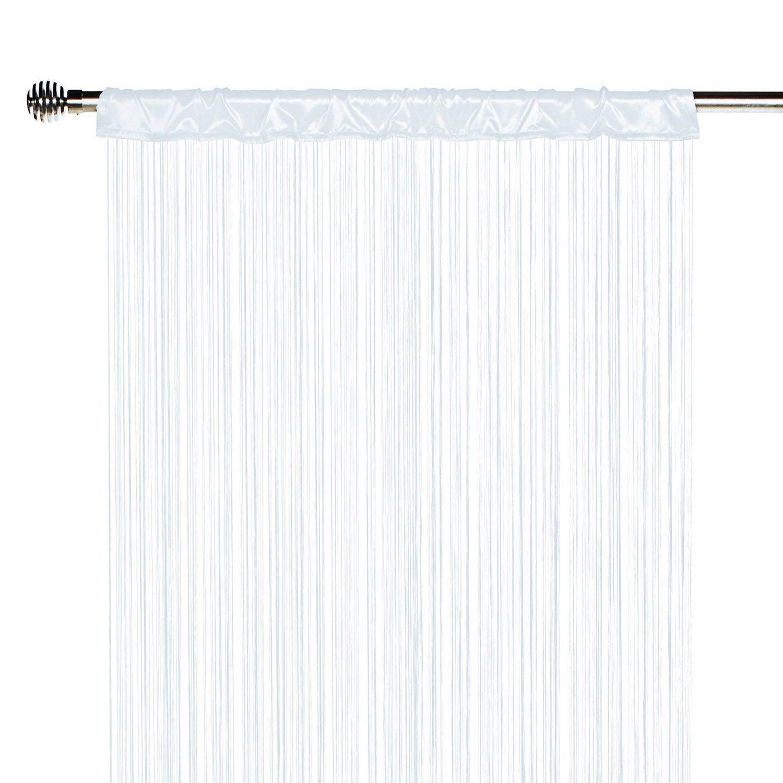 Rideau tamisant, Spaghetti, blanc, l.90 x H.250 cm INSPIRE | Leroy ...