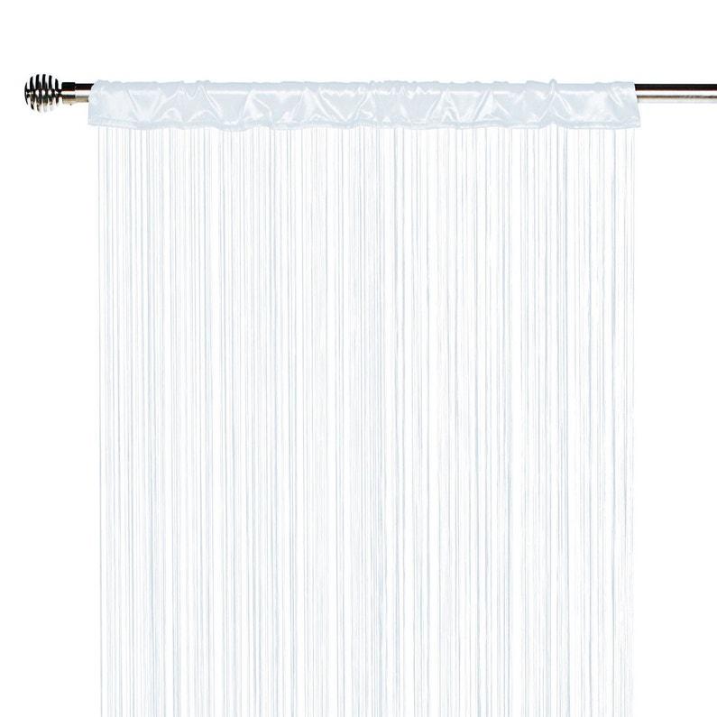 rideau tamisant spaghetti blanc x cm inspire. Black Bedroom Furniture Sets. Home Design Ideas