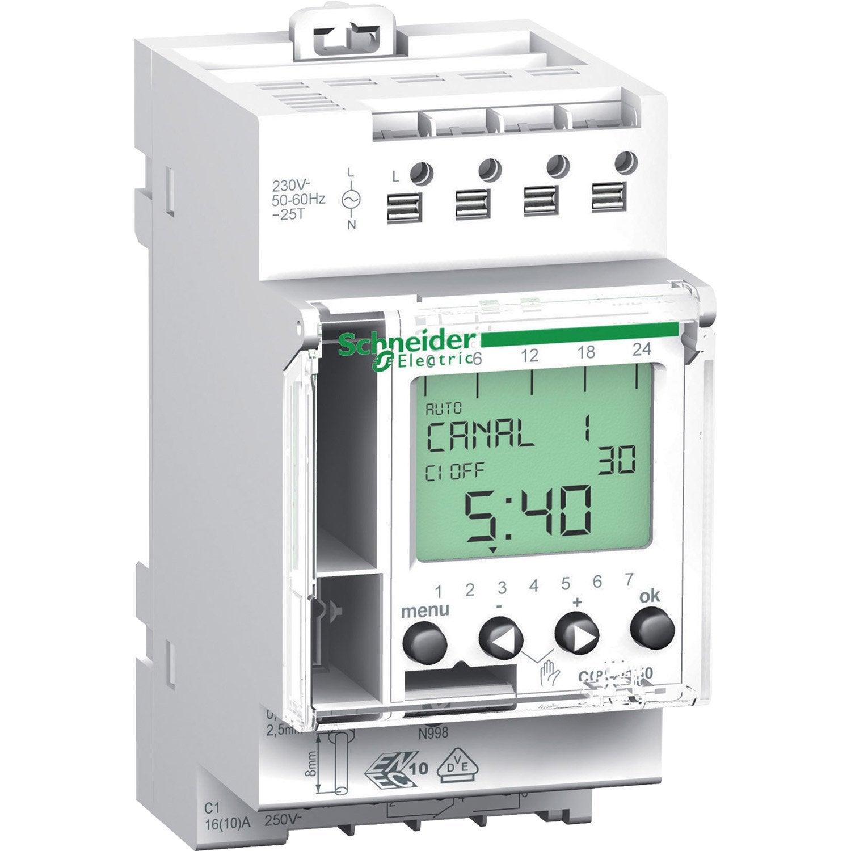 Horloge digitale SCHNEIDER ELECTRIC, 16 A | Leroy Merlin