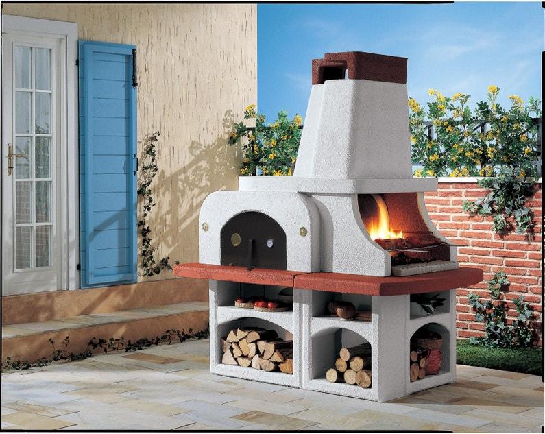 Barbecue Fixe Palazzetti Parenzo Blanc Leroy Merlin