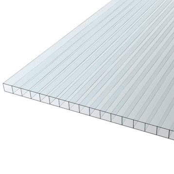 Plaque Polycarbonate Alvéolaire 10 Mm Transparente Lisse L 200 X 100 Cm Leroy Merlin