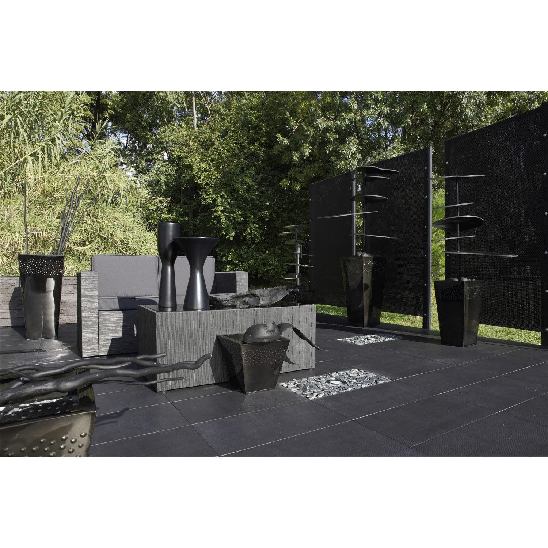 p tales d 39 ardoise pierre naturelle noir schiste 10 30mm. Black Bedroom Furniture Sets. Home Design Ideas