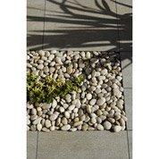 Galets zen en pierre naturelle, crème, 50/70 mm, 25 kg