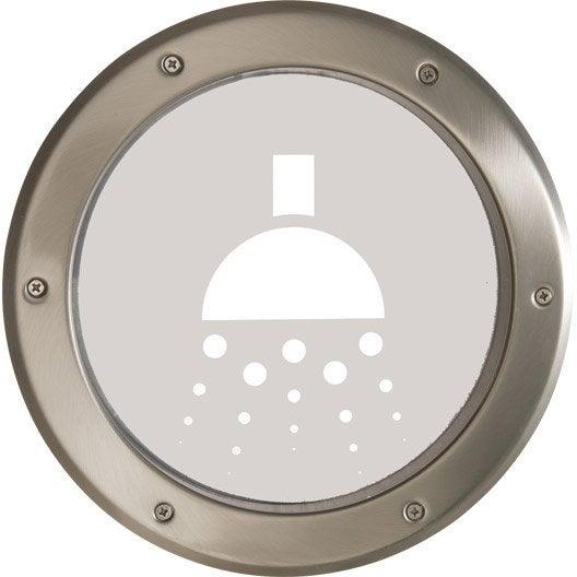 Sticker salle de bain pour hublot de 20 cm artens rond en for Hublot porte salle de bain