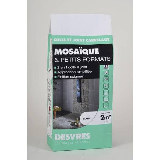Colle et joint 2 en 1 pour mosa que mur et sol 10 kg blanc leroy merlin - Colle pour mosaique piscine ...