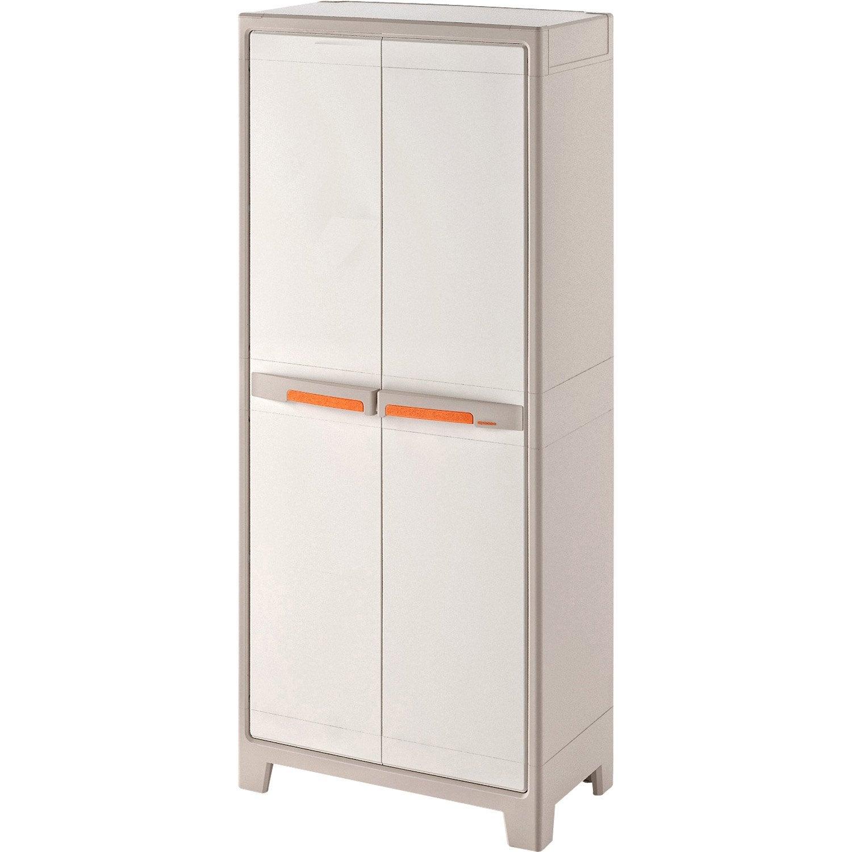 armoire haute r sine 4 tablettes spaceo premium x x cm leroy merlin. Black Bedroom Furniture Sets. Home Design Ideas