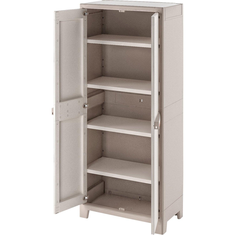 armoire haute r sine 4 tablettes spaceo premium x h. Black Bedroom Furniture Sets. Home Design Ideas