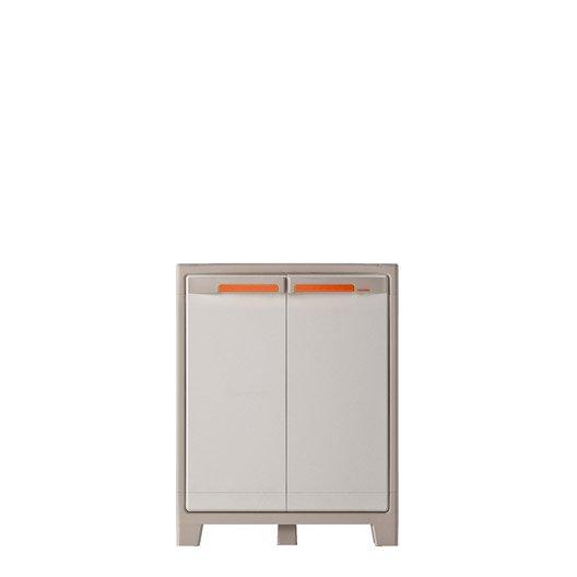 armoire basse r sine 2 tablettes spaceo premium x h. Black Bedroom Furniture Sets. Home Design Ideas
