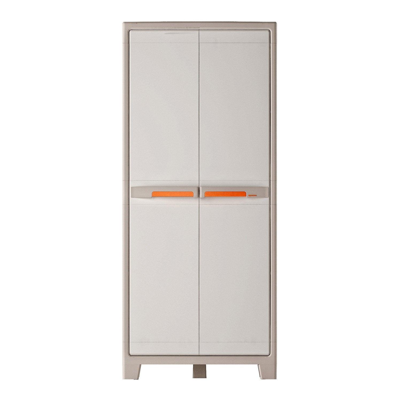 armoire haute rsine 5 tablettes spaceo premium l80 x h182 x p44 cm - Armoire Rangement Leroy Merlin
