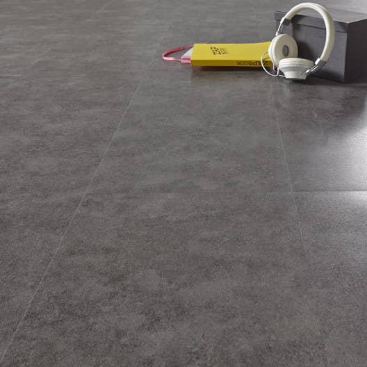 Dalle Salle De Bain Adhesive ~ dalle pvc adh sive effet b ton gris fonc aero leroy merlin
