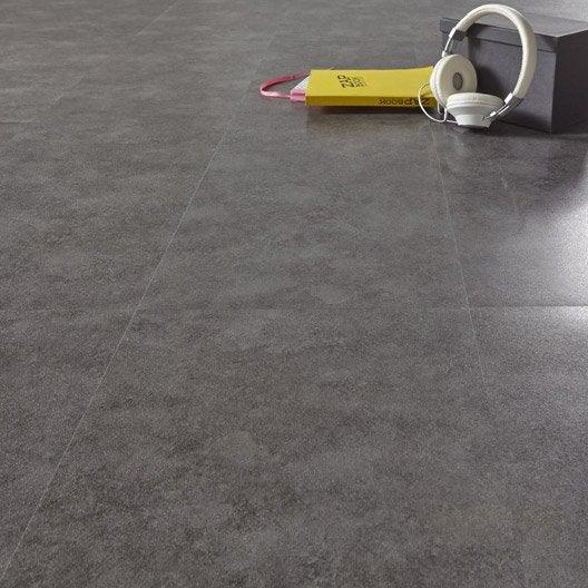 Dalle pvc adh sive anthracite effet b ton aero shy aero - Comment poser des dalles adhesives sur du carrelage ...