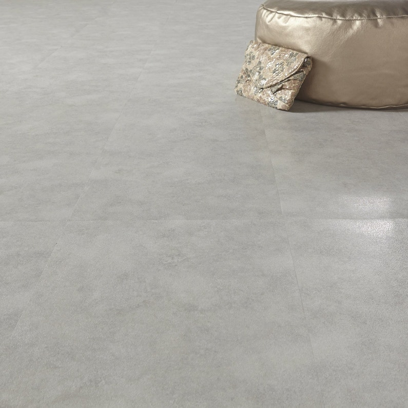 dalle pvc adh sive effet b ton beige aero leroy merlin. Black Bedroom Furniture Sets. Home Design Ideas