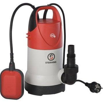 Pompe d'évacuation eau claire et eau chargée STERWINS 500 cdw-3 9000 l/h