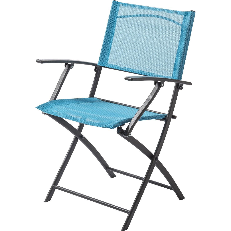 fauteuil de jardin en acier denver bleu leroy merlin. Black Bedroom Furniture Sets. Home Design Ideas