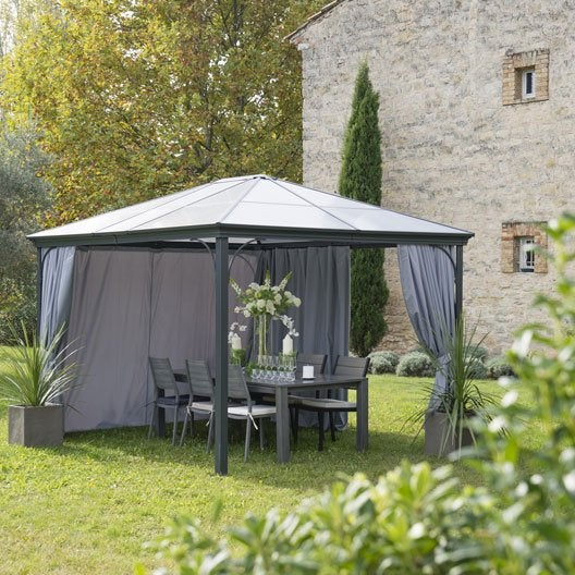 pergola autoportante aluminium gris anthracite m leroy merlin. Black Bedroom Furniture Sets. Home Design Ideas