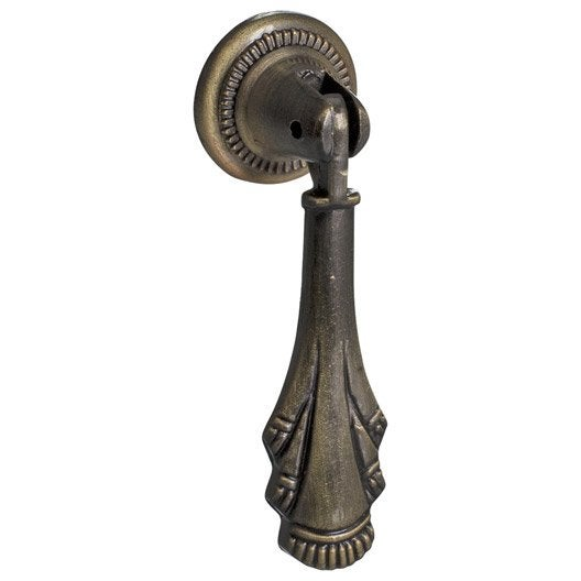bouton de meuble r tro acier bross leroy merlin. Black Bedroom Furniture Sets. Home Design Ideas