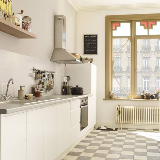 Meuble de cuisine blanc delinia graphic leroy merlin for Meuble cuisine amovible