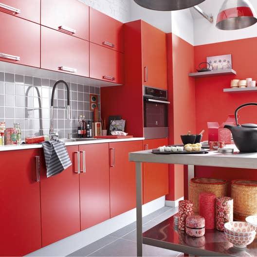 Meuble de cuisine rouge delinia d lice leroy merlin - Element de cuisine moderne ...