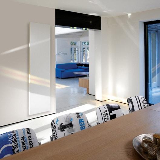 radiateur chauffage central basse temp rature vertiga blanc cm 2289 w leroy merlin. Black Bedroom Furniture Sets. Home Design Ideas