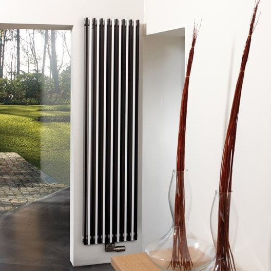 radiateur chauffage central piano blanc et noir cm 2082 w leroy merlin. Black Bedroom Furniture Sets. Home Design Ideas
