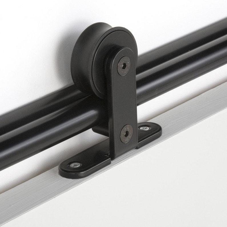 Rail Coulissant Bolero 2 Noir Pour Porte De Largeur 93 Cm Maximum