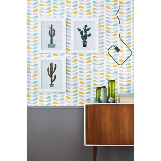 Canapé Multi Couleur intérieur papier peint intissé tige couleur multicouleur | leroy merlin