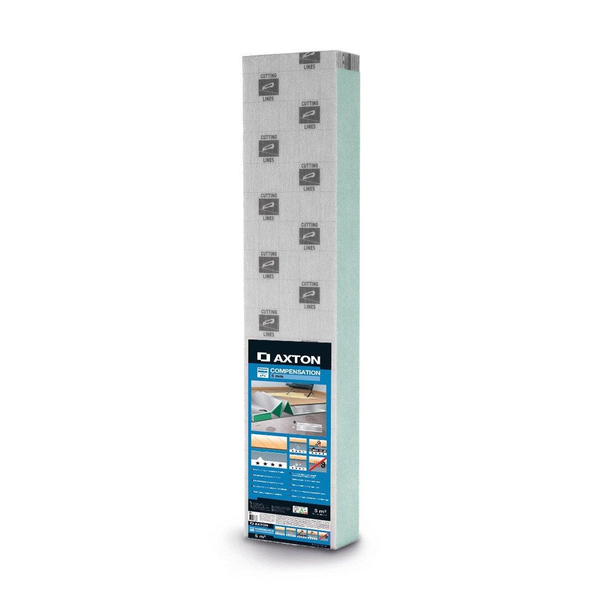 sous couche parquet et sol stratifi compensation aquastop ep 5 mm axton 5 m leroy merlin. Black Bedroom Furniture Sets. Home Design Ideas