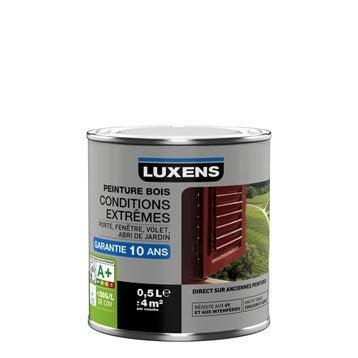 Peinture bois extérieur Conditions extrêmes LUXENS, blanc blanc n°0, 0.5 l