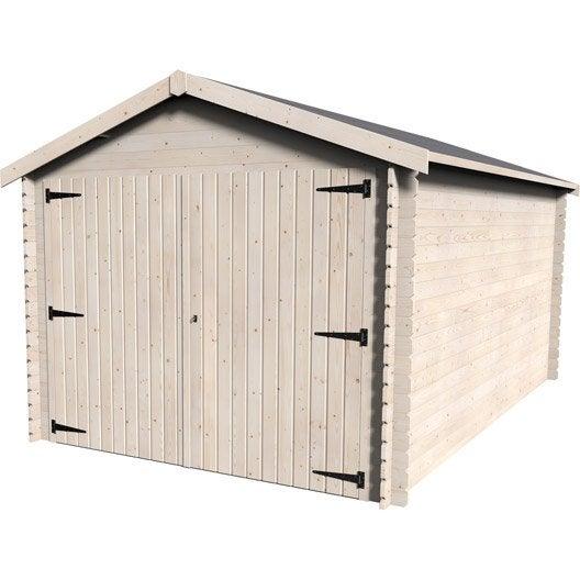 garage bois gamache 1 voiture m leroy merlin. Black Bedroom Furniture Sets. Home Design Ideas