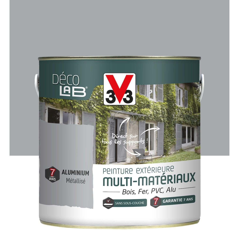 Nice Peinture Multimatériau Extérieur V33, Aluminium, 2 L