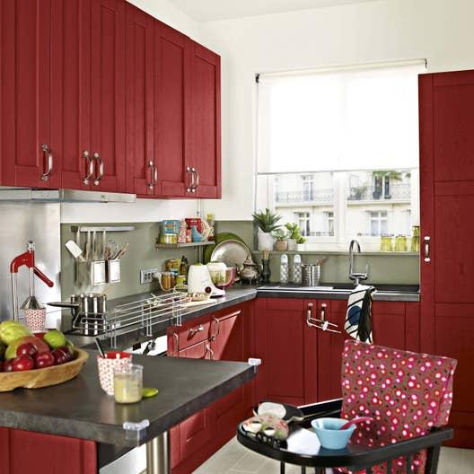 meuble de cuisine rouge delinia rubis leroy merlin. Black Bedroom Furniture Sets. Home Design Ideas