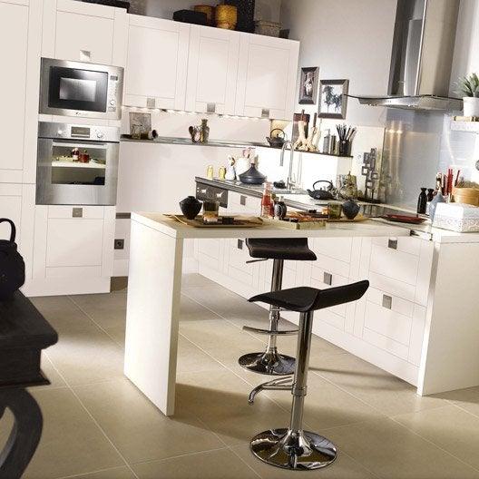 Meuble de cuisine ivoire delinia karrey leroy merlin - Devis cuisine leroy merlin ...