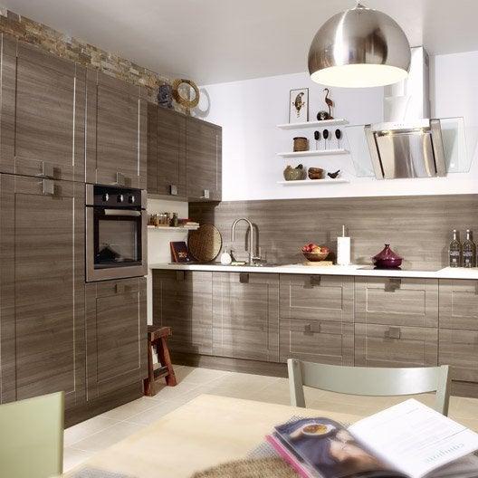 Meuble de cuisine d cor ch ne blanchi delinia karrey for Produit cuisine