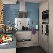 Meuble de cuisine gris DELINIA ...