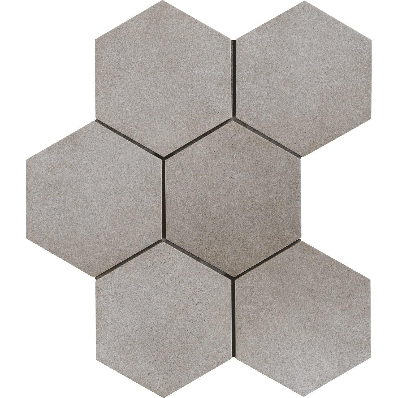 Carrelage sol et mur intenso béton gris ciment Time l.21 x L.18 cm
