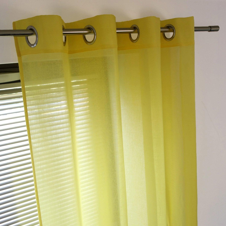 Voilage tamisant, Niagara, jaune, l.140 x H.260 cm
