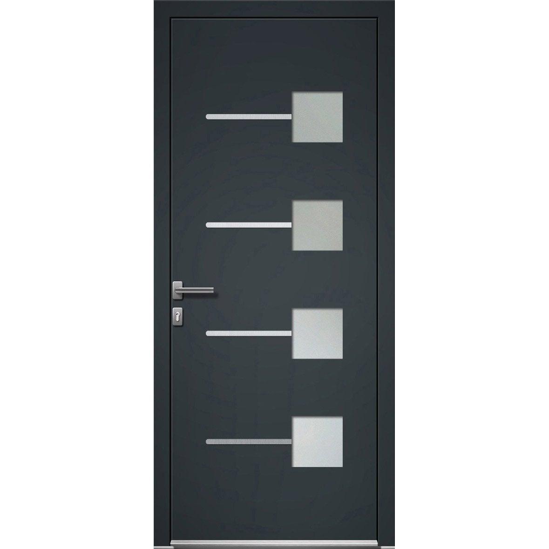 porte d 39 entr e aluminium soria artens poussant droit h. Black Bedroom Furniture Sets. Home Design Ideas