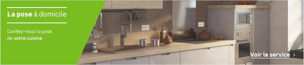 cuisine quip e en kit avec meuble lectrom nager vier et robinet au meilleur prix leroy. Black Bedroom Furniture Sets. Home Design Ideas