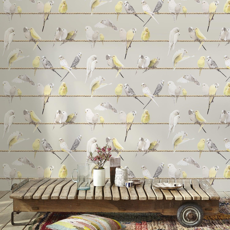 papier peint intiss oiseaux jaune leroy merlin. Black Bedroom Furniture Sets. Home Design Ideas