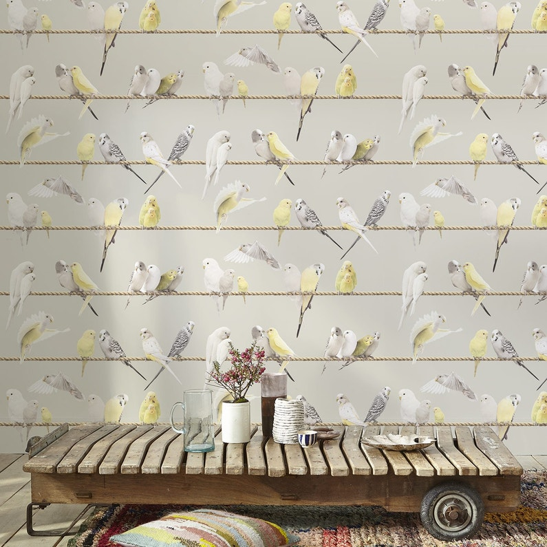 Papier Peint Intisse Oiseaux Jaune Leroy Merlin