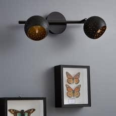spot pat re industriel hydro 1 xg9 noir inspire leroy merlin. Black Bedroom Furniture Sets. Home Design Ideas